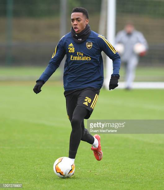 Joe Willock of Arsenal during a training session at London Colney on February 19 2020 in St Albans England