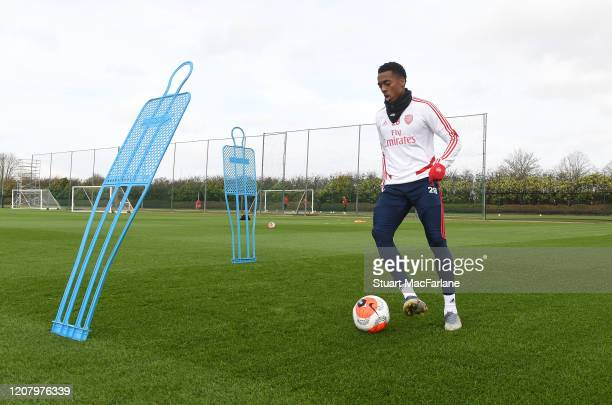 Joe Willock of Arsenal during a training session at London Colney on February 22 2020 in St Albans England
