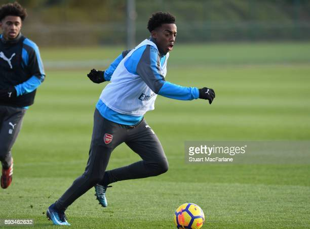 Joe Willock of Arsenal during a training session at London Colney on December 15 2017 in St Albans England