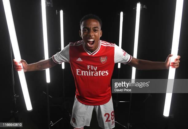 Joe Willock of Arsenal during the Arsenal Media Day at London Colney on August 07, 2019 in St Albans, England.