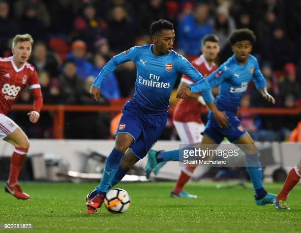 Joe Willock of Arsenal during the FA Cup 3rd Round match between Nottingham Forest and Arsenal at City Ground on January 7 2018 in Nottingham England