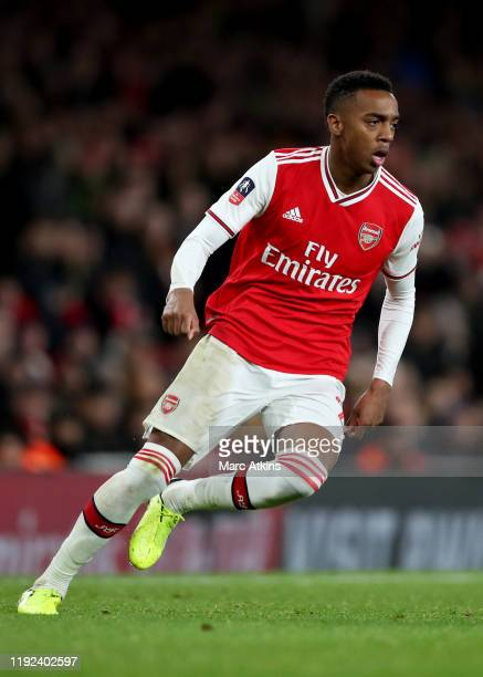 Joe Willock of Arsenal during the FA Cup Third Round match between Arsenal and Leeds United at Emirates Stadium on January 6 2020 in London England