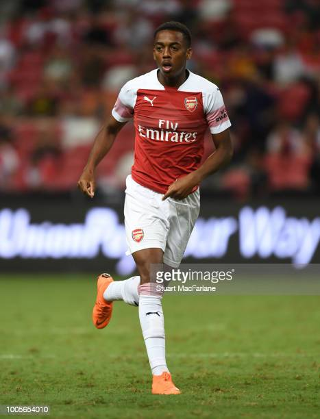 Joe Willock of Arsenal during the International Champions Cup 2018 match between Club Atletico de Madrid and Arsenal at the National Stadium on July...