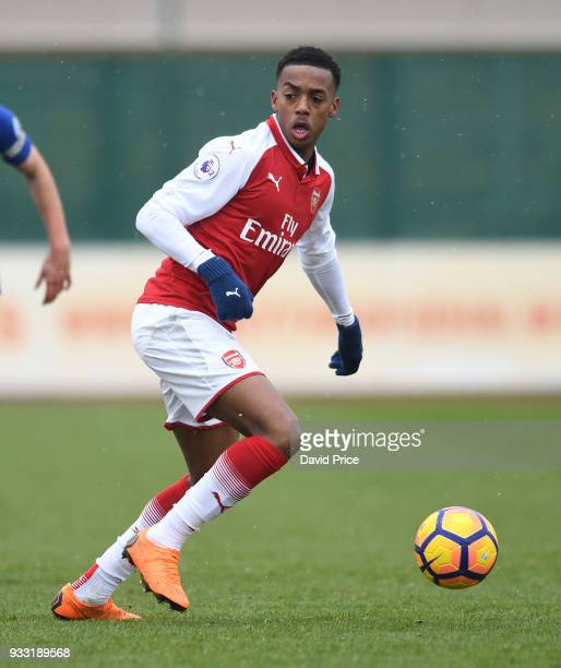 Joe Willock of Arsenal during the match between Arsenal U23 and Chelsea U23 at London Colney on March 17 2018 in St Albans England