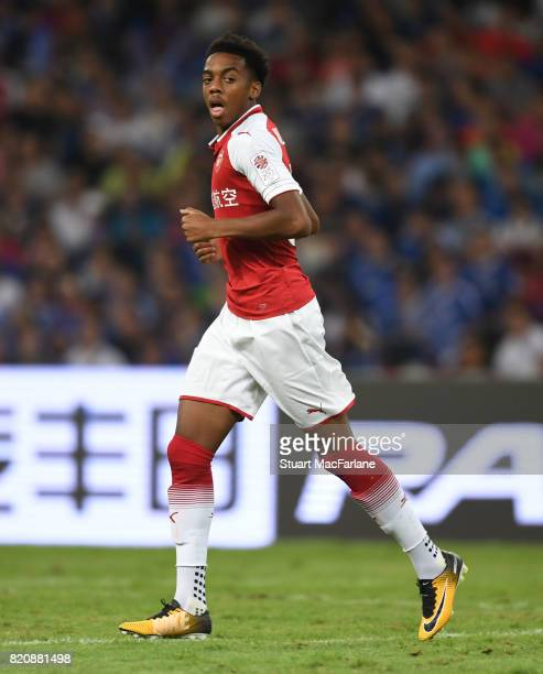Joe Willock of Arsenal during the pre season friendly between Arsenal and Chelsea at the Birds Nest on July 22 2017 in Beijing