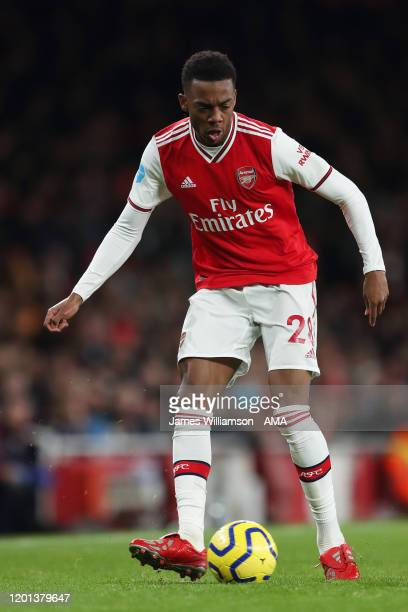 Joe Willock of Arsenal during the Premier League match between Arsenal FC and Newcastle United at Emirates Stadium on February 16 2020 in London...