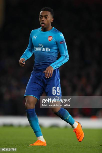 Joe Willock of Arsenal during UEFA Europa League Round of 32 match between Arsenal and Ostersunds FK at the Emirates Stadium on February 22 2018 in...