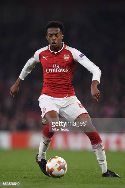 Joe Willock of Arsenal in action during the UEFA Europa League group H match between Arsenal FC and Crvena Zvezda at Emirates Stadium on November 2...
