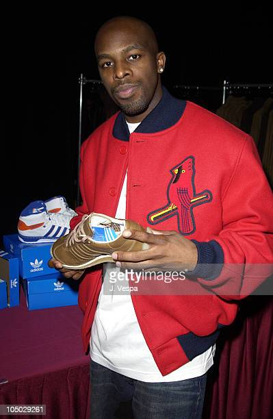 Joe with Adidas during 2002 Billboard Music Awards Backstage Creations Talent Retreat Show Day at MGM Grand Hotel in Las Vegas Nevada United States