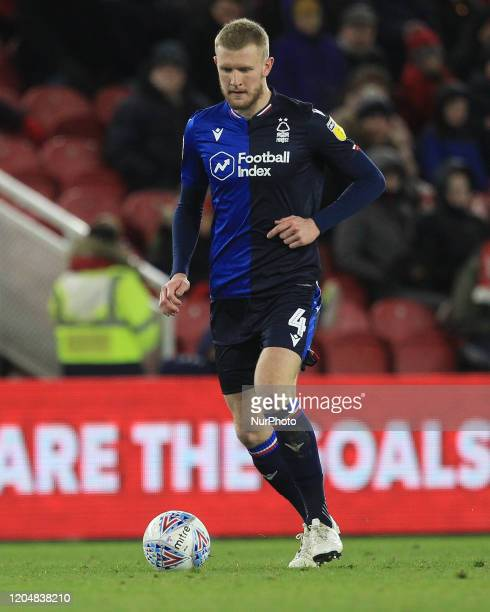 Joe Worrall of Nottingham Forest during the Sky Bet Championship match between Middlesbrough and Nottingham Forest at the Riverside Stadium...