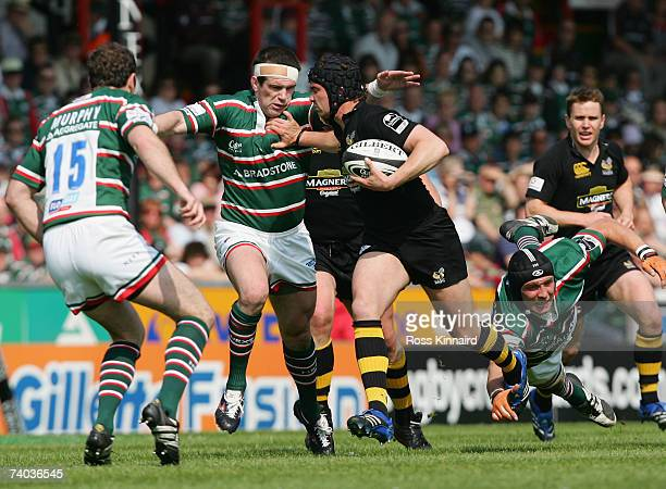 Joe Worsley of Wasps during the Guinness Premiership match between Leicester Tigers and London Wasps at Welford Road on April 28, 2007 in Leicester,...