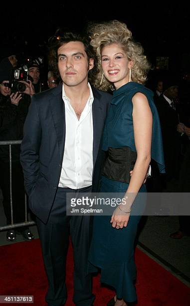 Joe Wright director and Rosamund Pike during Pride and Prejudice New York Premiere Outside Arrivals at Loews Lincoln Center in New York City New York