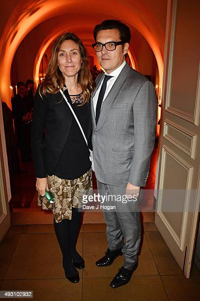 Joe Wrigth and a guest attend the BFI London Film Festival Awards at Banqueting House on October 17, 2015 in London, England.