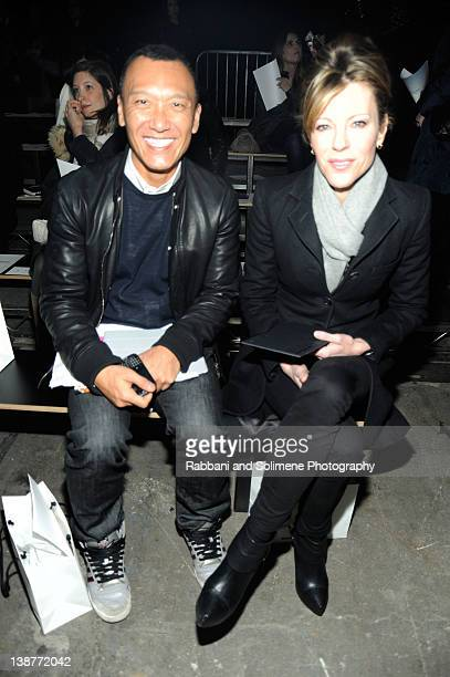 Joe Zee and Roberta Myers attend the Alexander Wang Fall 2012 fashion show during MercedesBenz Fashion Week at Pier 94 on February 11 2012 in New...