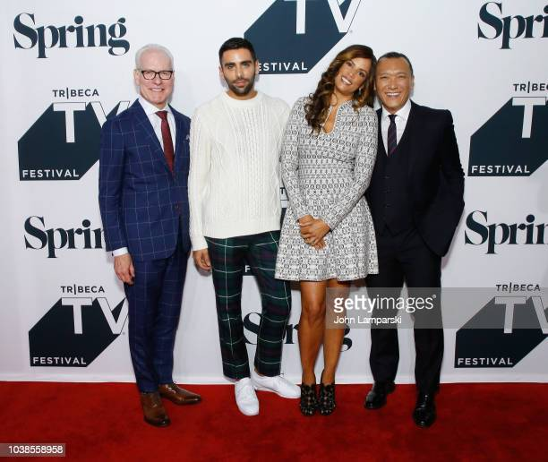 Joe Zee and Veronica Webb speak onstage at the 'American Style' Premiere Panel during the 2018 Tribeca TV Festival at Spring Studios on September 23...