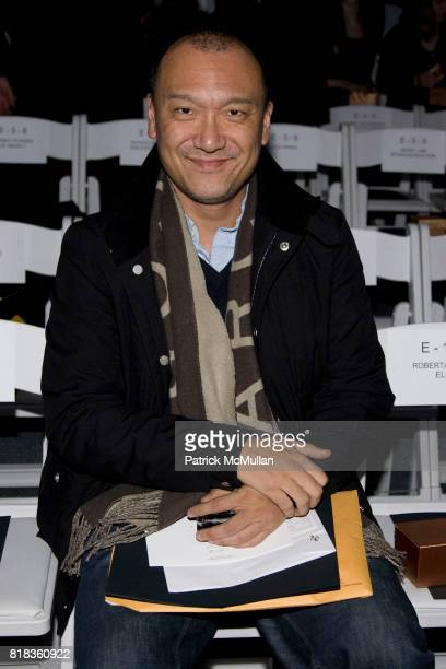 Joe Zee attends NICOLE MILLER Fall 2010 Collection at Bryant Park Tents on February 12 2010 in New York City