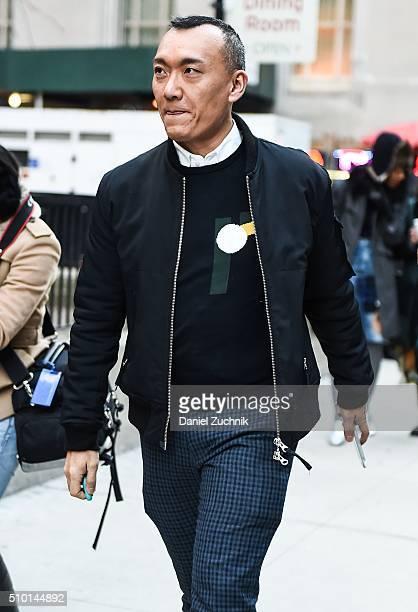 Joe Zee is seen outside the Alexander Wang show during New York Fashion Week: Women's Fall/Winter 2016 on February 13, 2016 in New York City.