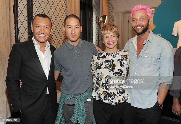 Joe Zee of Elle Magazinedesigner Richard Chai Stylist Lori Goldstein and designer Chris Benz attend the announcement of the Vitaminwater Color...