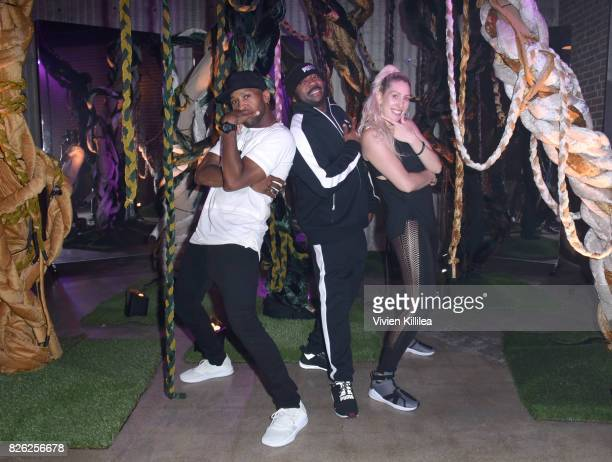 JoeJoe Grooves Kennis Marquis and Kat Reow attend PUMA Hosts CAMP PUMA To Launch Their Newest Women's Collection Velvet Rope at Goya Studios on...