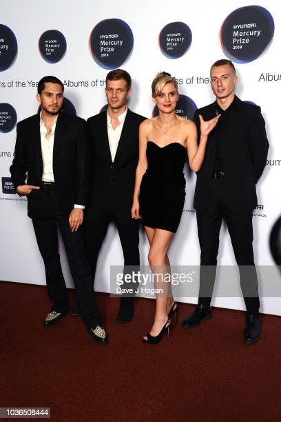 Joel Amey Joff Oddie Ellie Rowsell and Theo Ellis of Wolf Alice attend the Hyundai Mercury Prize 2018 at Eventim Apollo on September 20 2018 in...