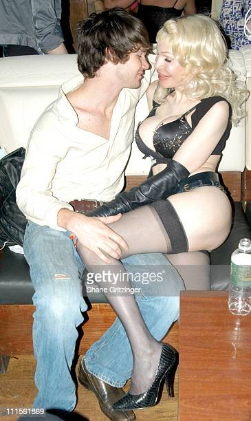 Joel and Amanda Lepore during Harry* and Amanda Lepore Host Charm School University June 20 2005 at Marquee in New York City New York United States