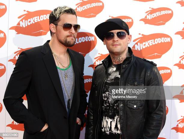 Joel and Benji Madden arrive for the Australian Nickelodeon Kids' Choice Awards 2009 at Hisense Arena on November 13 2009 in Melbourne Australia