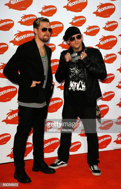 Joel and Benji Madden arrive for the Australian Nickelodeon Kids' Choice Awards 2009 at Hisense Arena on November 13, 2009 in Melbourne, Australia.