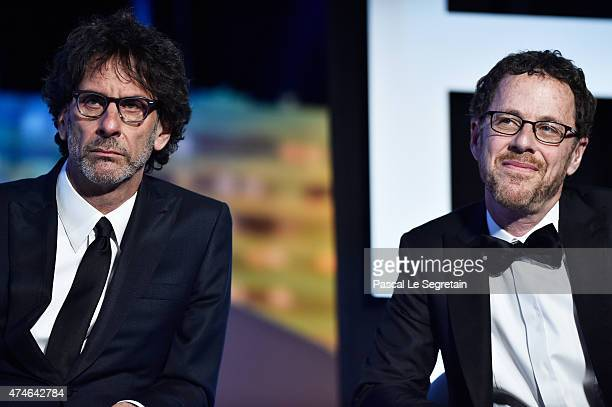 Joel and Ethan Coen attend the closing ceremony during the 68th annual Cannes Film Festival on May 24 2015 in Cannes France