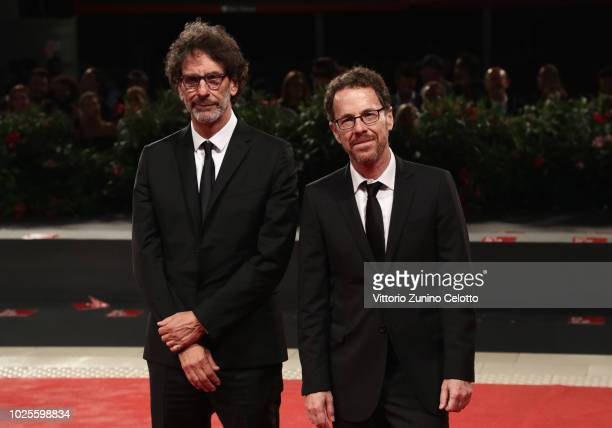Joel and Ethan Coen walk the red carpet ahead of the 'The Ballad of Buster Scruggs' screening during the 75th Venice Film Festival at Sala Grande on...