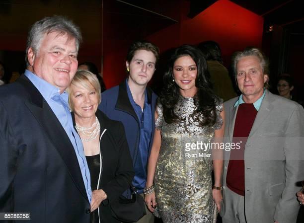 Joel and Jo Ann Douglas Cameron Douglas actress Catherine ZetaJones and actor Michael Douglas attend the premiere of Kirk Douglas' one man show...
