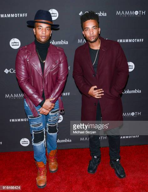 Joel and Joseph Harold arrive at Unsolved The Murders Of Tupac and The Notorious BIG at Inaugural Mammoth Film Festival Day 2 on February 9 2018 in...