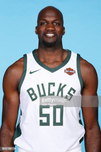 Joel Anthony of the Milwaukee Bucks poses for a head shot during media day on September 25 2017 at the Froedtert and Medical College of Wisconsin...