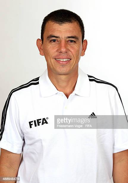 Joel Antonio Aguilar Chicas during the Workshop for Prospective Referees for the 2014 FIFA World Cup at the Windsor Barra Hotel on May 27 2013 in Rio...