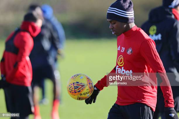 Joel Asoro during a training session at The Academy of Light on February 7 2018 in Sunderland England