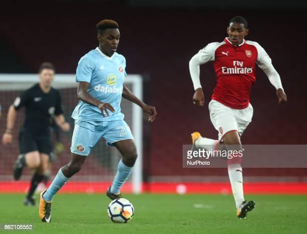 Joel Asoro of Sunderland Under 23 during Premier League 2 Division 1match between Arsenal Under 23s against Sunderland Under 23s at Emirates Stadium...