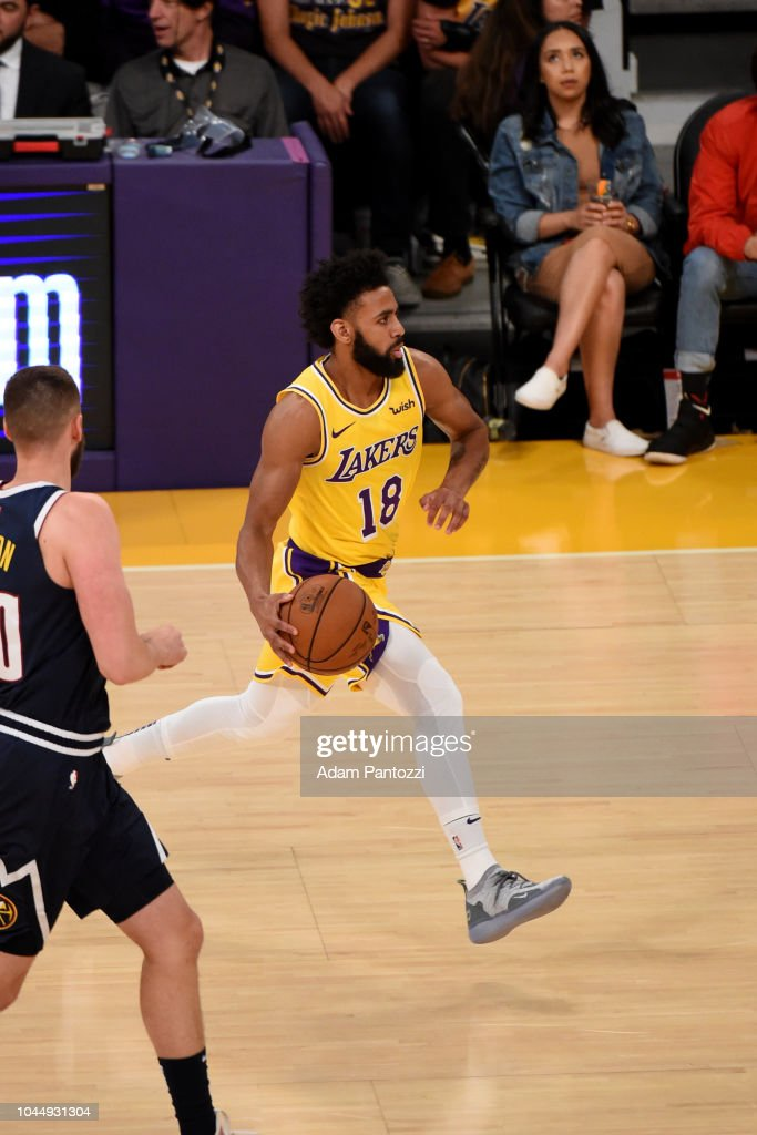 ac39a2beef3 Joel Berry II of the Los Angeles Lakers handles the ball against the ...