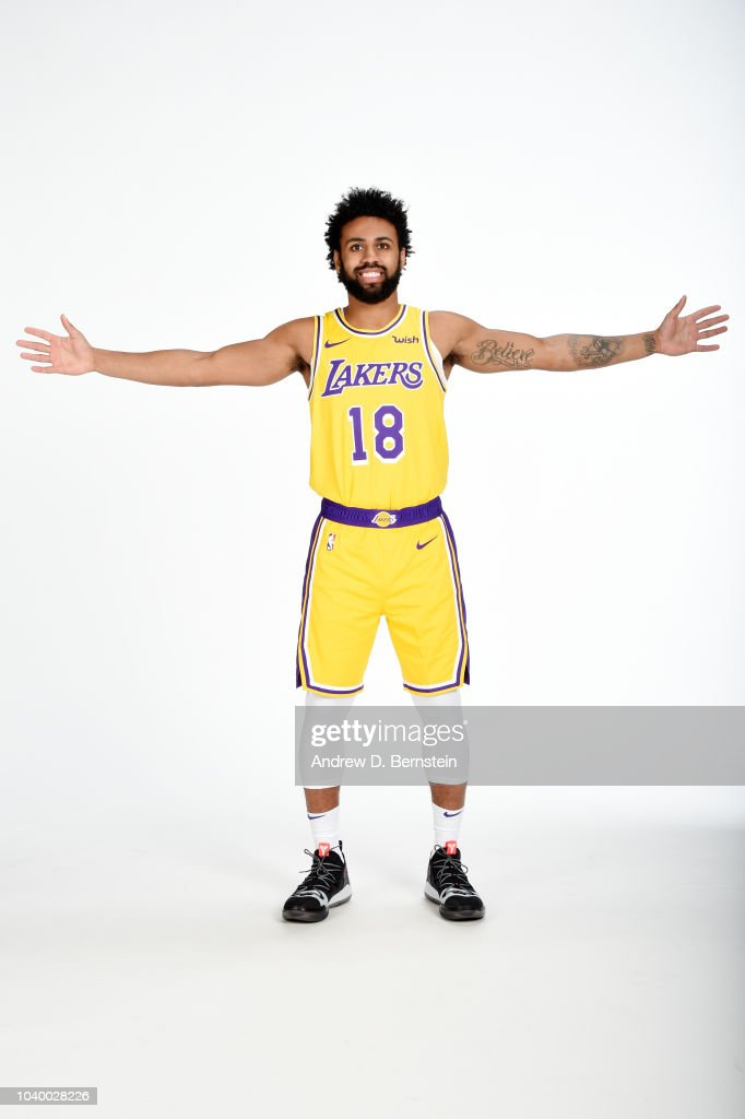7336d06f9a5 Joel Berry II of the Los Angeles Lakers poses for a portrait during ...