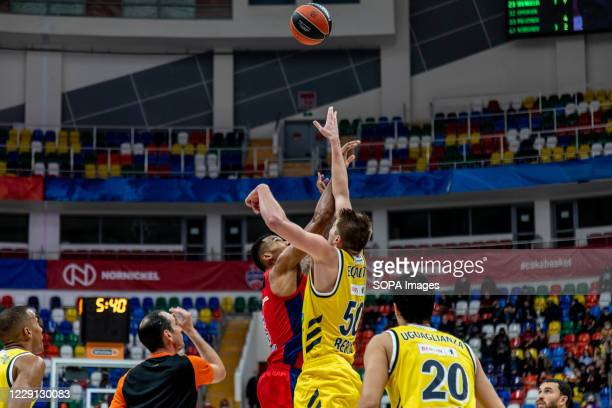 Joel Bolomboy #3 of CSKA Moscow in action against Alba Berlin during the Turkish Airlines EuroLeague Round 4 of 20202021 season at the Megasport...