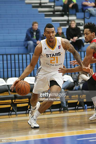 Joel Bolomboy of the Salt Lake City Stars drives to the basket against the Rio Grande Valley Vipers at Bruins Arena on December 17 2016 in...