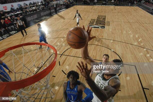 Joel Bolomboy of the Wisconsin Herd dunks against the Texas Legends during the NBA G League Showcase Game 5 on January 10 2018 at the Hershey Centre...