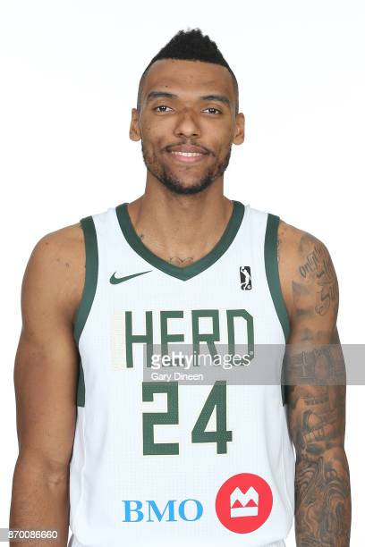 Joel Bolomboy of the Wisconsin Herd poses for a head shot during the NBA GLeague media day at the Oshkosh Convention Center on November 3 2017 in...