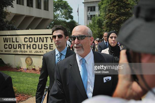 Joel Brodsky attorney for Drew Peterson leaves the Will County Courthouse during a recess in Peterson's murder trial July 31 2012 in Joliet Illinois...