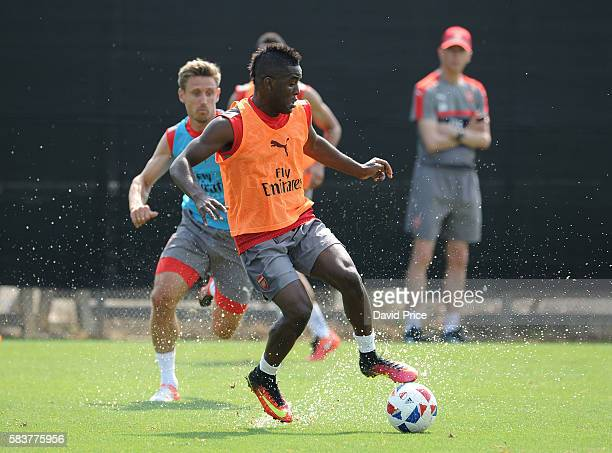 Joel Campbell of Arsenal during the Arsenal Training Session at San Jose State University on July 27 2016 in San Jose California