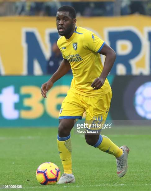 Joel Campbell of Frosinone Calcio in action during the Serie A match between Parma Calcio and Frosinone Calcioat Stadio Ennio Tardini on November 4...