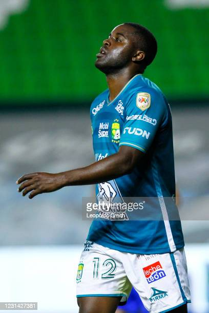 Joel Campbell of Leon reacts during the warm up prior the 8th round match between Leon and Cruz Azul as part of the Torneo Guard1anes 2021 Liga MX at...