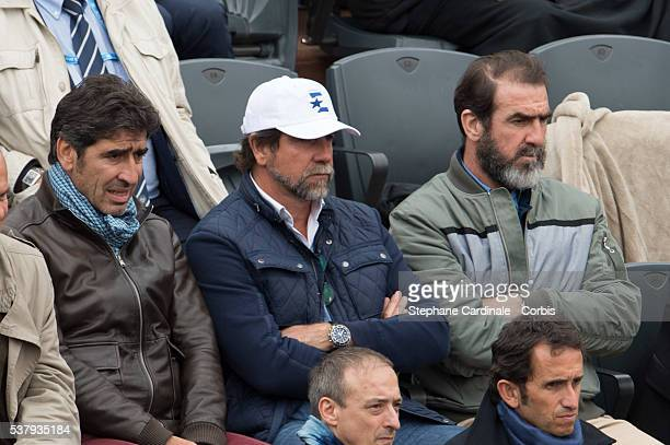 Joel Cantona JeanMarie Cantona and Eric Cantona attend day thirteen of the 2016 French Openat Roland Garros on June 3 2016 in Paris France