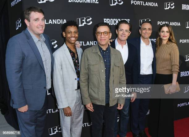 Joel ChurchCooper Tyrel Jackson Williams Fred Armisen Kyle MacLachlan Hank Azaria and Amanda Peet attend IFC Hosts 'Brockmire' And 'Portlandia' EMMY...