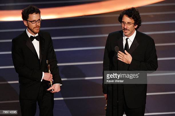 TELECAST*** Joel Coen and Ethan Coen accept the award for Best Director for the film No Country for Old Men during the 80th Annual Academy Awards...