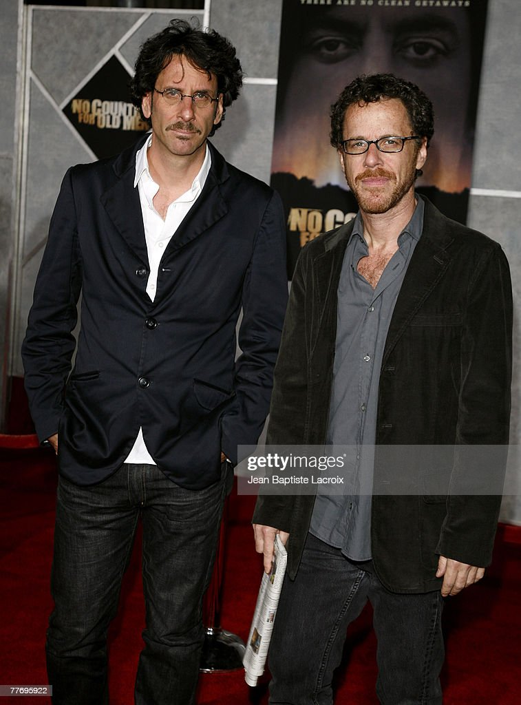 Joel Coen and Ethan Coen arrive at the premiere of Miramax Films' 'No Country For Old Men' held at the El Capitan Theater on November 4, 2007 in Hollywood, California.
