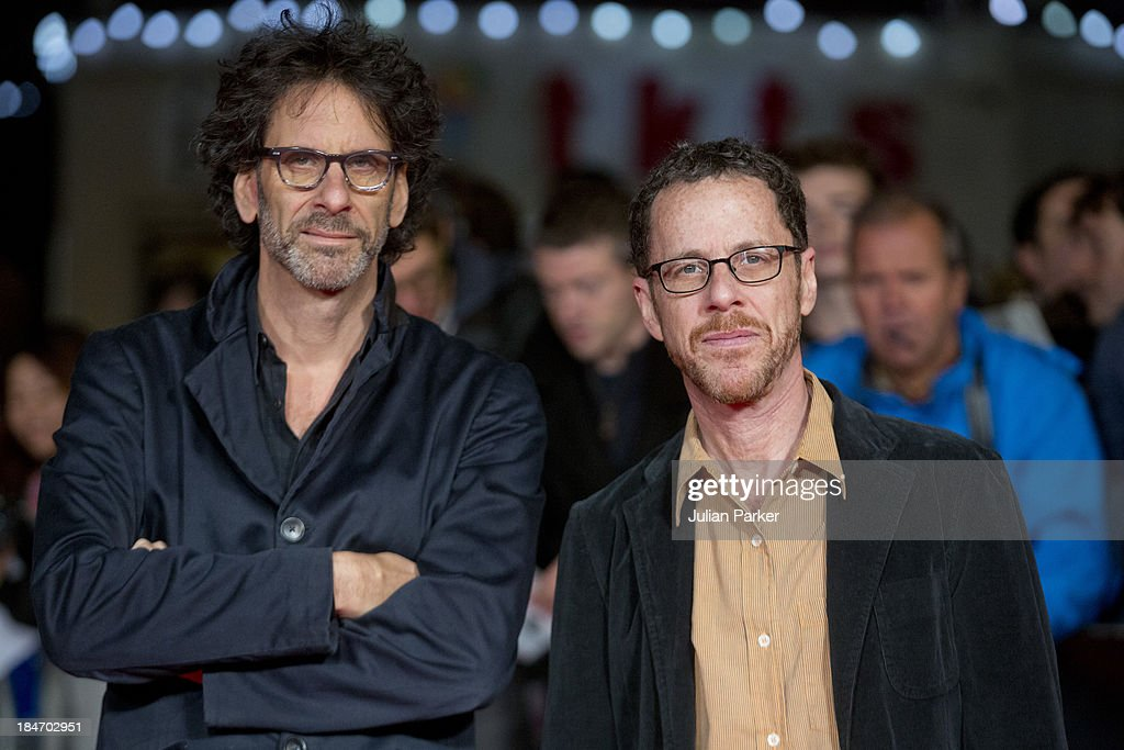 Joel Coen (L) and Ethan Coen attend the screening of 'Inside Llewyn Davis' Centrepiece Gala Supported By The Mayor Of London during the 57th BFI London Film Festival at Odeon Leicester Square on October 15, 2013 in London, England.